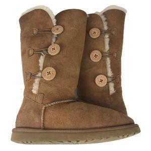 UGG Bailey Button Boot Triplet II Chestnut Tall